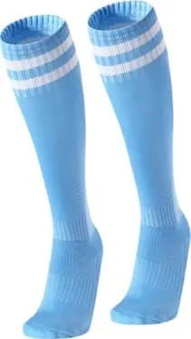 Гетры мужские голубые с белыми полосами